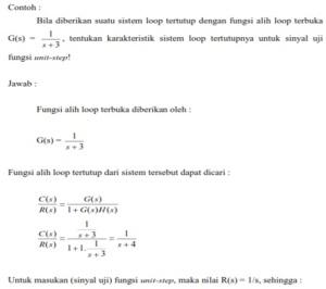 contoh soal Respon Impulsa sistem orde 1