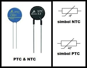gambar komponen dan simbol ntc ptc