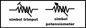 simbol trimpot dan simbol potensiometer